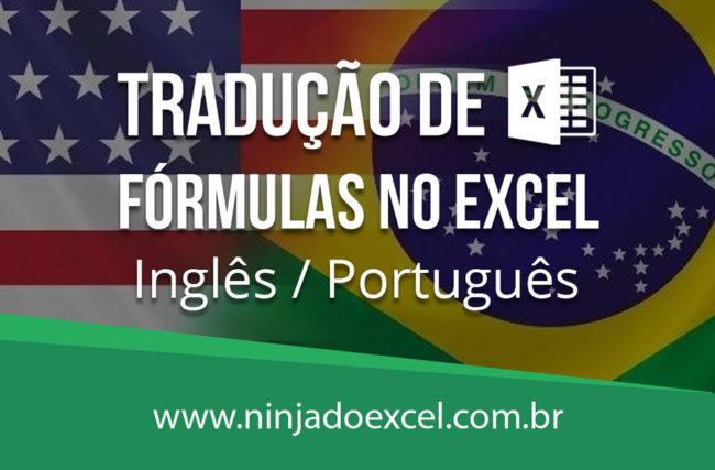 Tradução de Fórmulas no Excel –  Inglês / Português