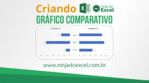Criando gráfico comparativo excel