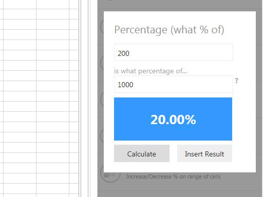 calculo porcentagem no excel