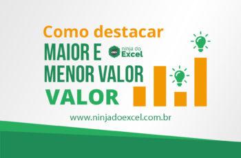 Como destacar o Maior e o Menor valor em Gráficos no Excel