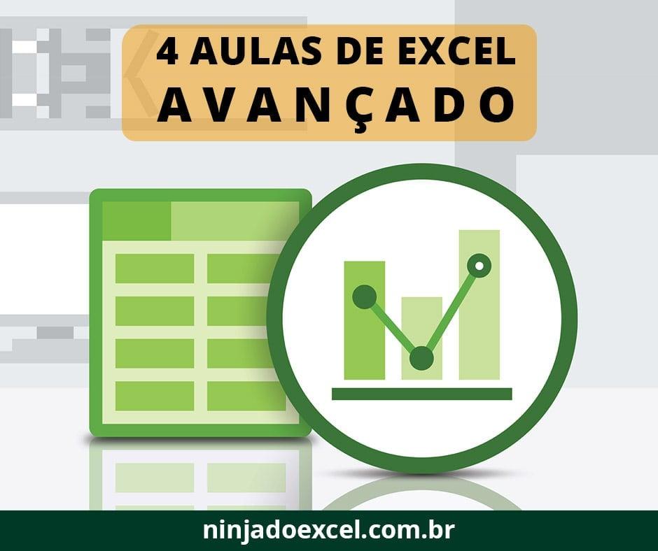 4 Aulas de Excel Avançado - Curso Excel Avançado