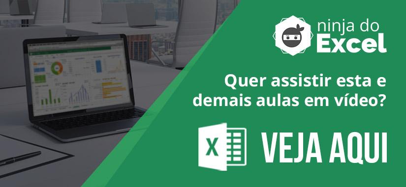 Assista mais Aulas de Excel - Ninja do Excel