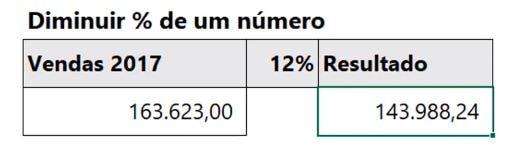 Como calcular porcentagem no Excel 13a