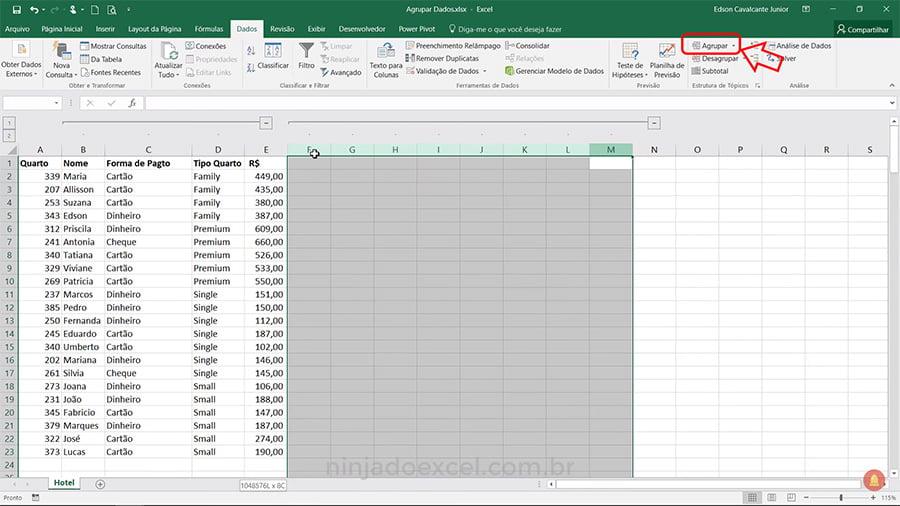 Como Agrupar Dados no Excel - Estrutura de Tópicos