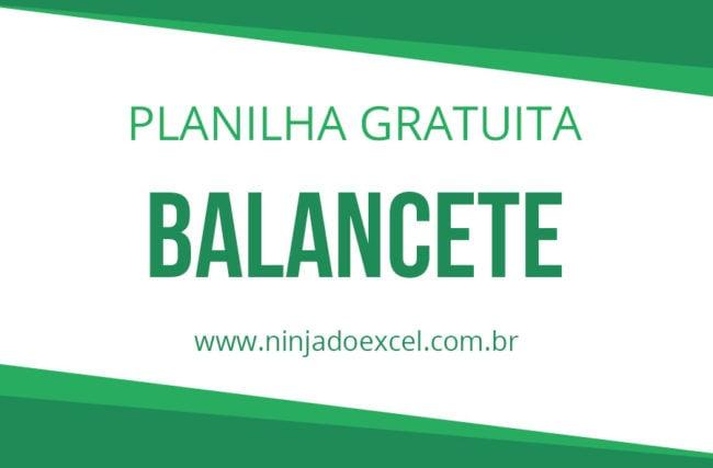 Modelo de Planilha – Balancete