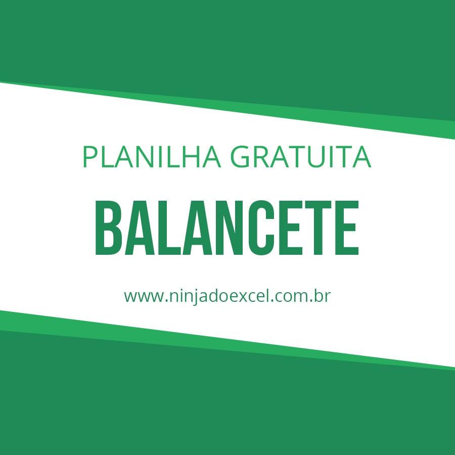 Modelo De Planilha Balancete Ninja Do Excel