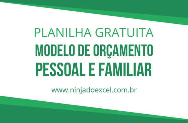 Modelo de Planilha de Orçamento Pessoal e Familiar