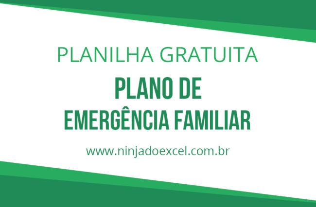 Modelo de Planilha – Plano de Emergência Familiar