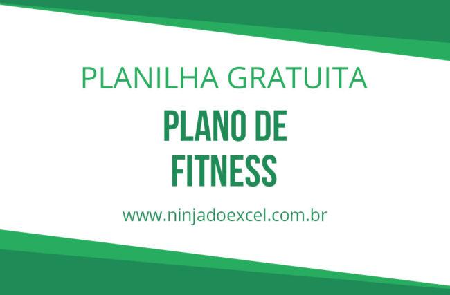 Modelo de Planilha – Plano de Fitness
