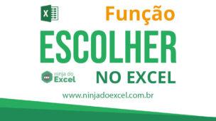 Função ESCOLHER no Excel