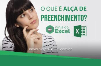 O que é a Alça de Preenchimento do Excel?