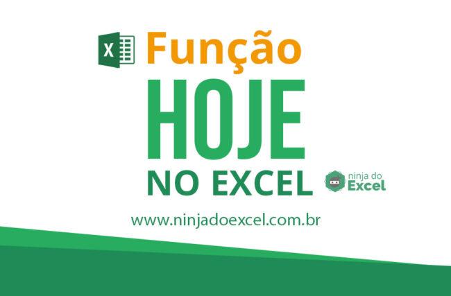 Função HOJE no Excel