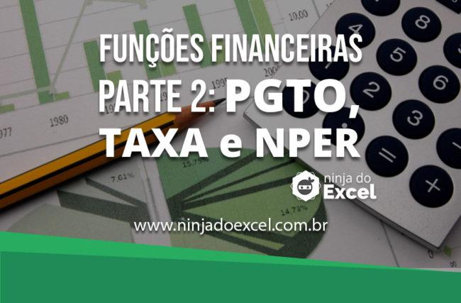 Como fazer funções financeiras no Excel parte II