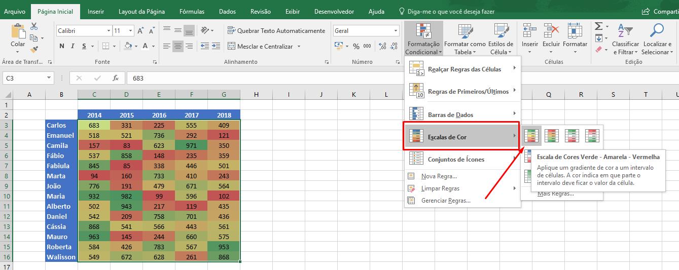 Como Criar Um Mapa De Calor No Excel Ninja Do Excel