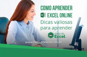 Como aprender Excel Online – Dicas valiosas para aprender Excel (item 4 é muito importante)