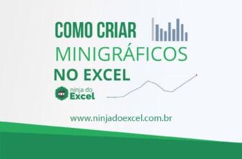 Como criar minigráfico no Excel
