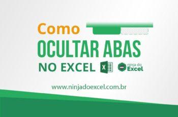 Ocultando planilha no Excel