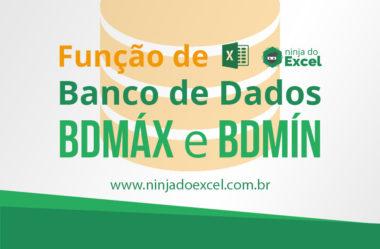 Funções de banco de dados BDMÁX e BDMÍN