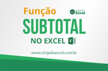 Função SUBTOTAL no Excel