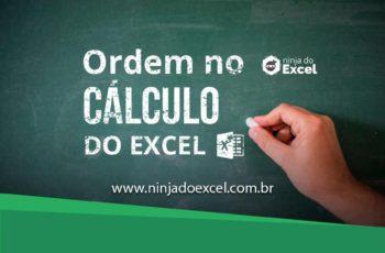 Ordem do cálculo no Excel