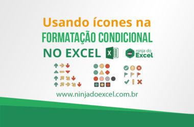 Formatação condicional usando o conjunto de ícones no Excel