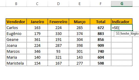 como fazer indicador com estrelas no Excel