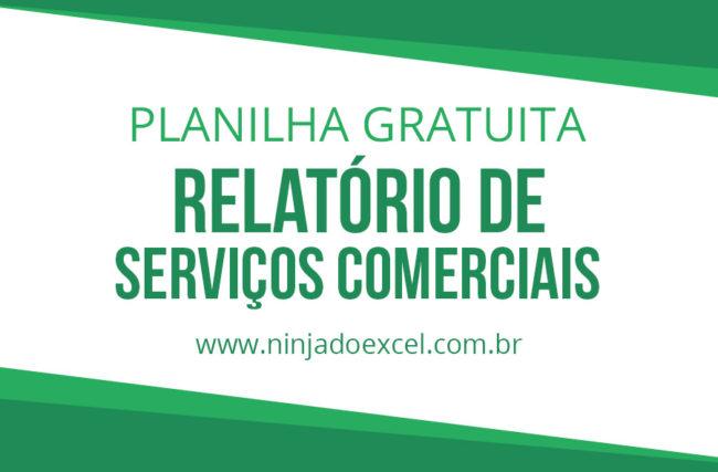 Modelo de Planilha – Relatório de Serviços Comerciais
