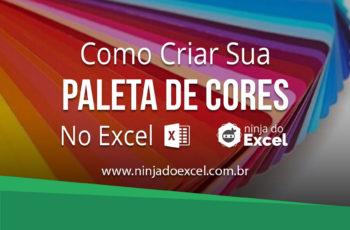 Paleta de cores no Excel