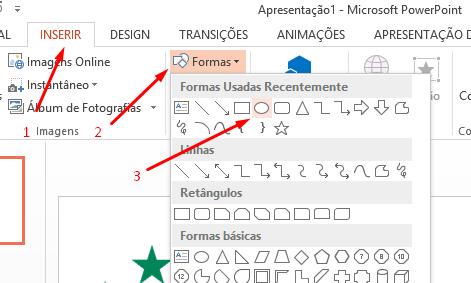 Escolhendo forma para Paleta de cores no Excel
