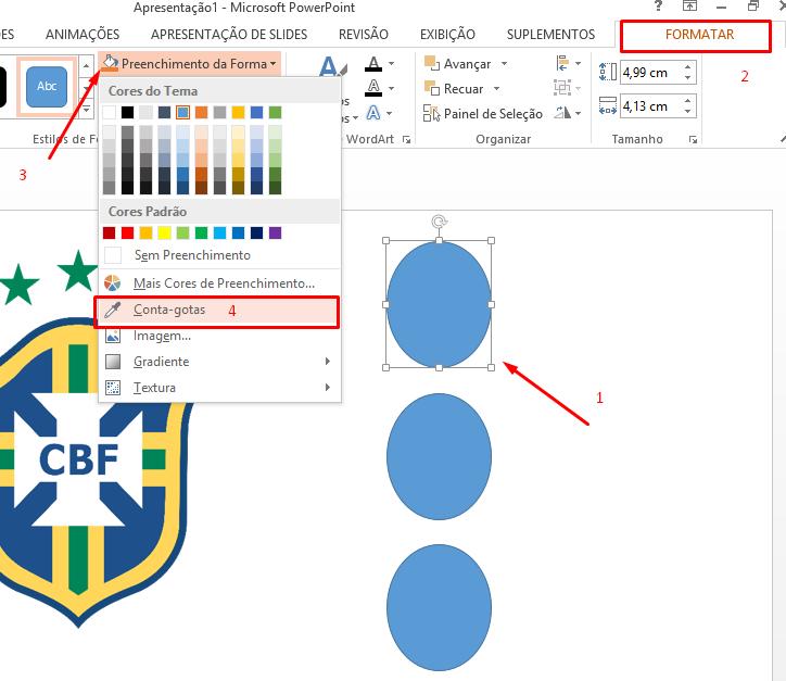 Ferramenta cota gostar para Paleta de cores no Excel