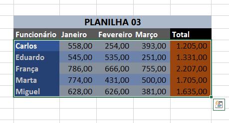 Selecionando a primeira planilha para limpar formatação no Excel maneira 03