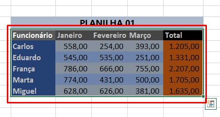 Selecionando a primeira planilha para limpar formatação no Excel