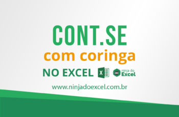 CONT.SE (Função Cont.se) com coringa no Excel