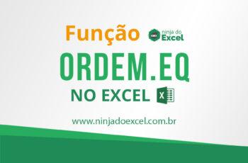 Ordem.EQ (Função ORDEM.EQ) no Excel