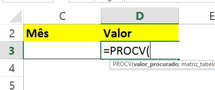 Abrindo a função PROCV com CORRESP no Excel