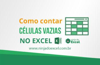 Como contar células vazias no Excel