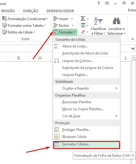 Formatar Células para abreviar números no Excel