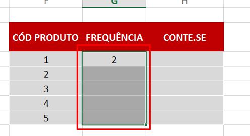 Selecionando intervalo para Função FREQUÊNCIA no Excel