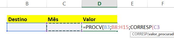 Valor_procurado na CORRESP em PROCV com CORRESP no Excel