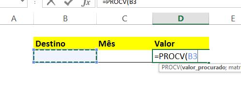 Valor_procurado na PROCV com CORRESP no Excel