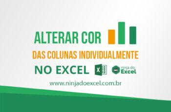 Alterar cor de colunas do gráfico no Excel