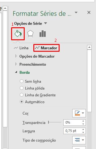 Achando marcador para Criar gráfico com ícones no Excel