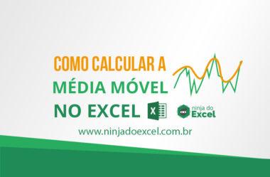 Como calcular a média móvel no Excel