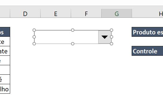 Desenhando a caixa de combinação para Caixa de listagem com múltipla escolha no Excel