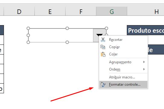 Formatar Controle para Caixa de listagem com múltipla escolha no Excel