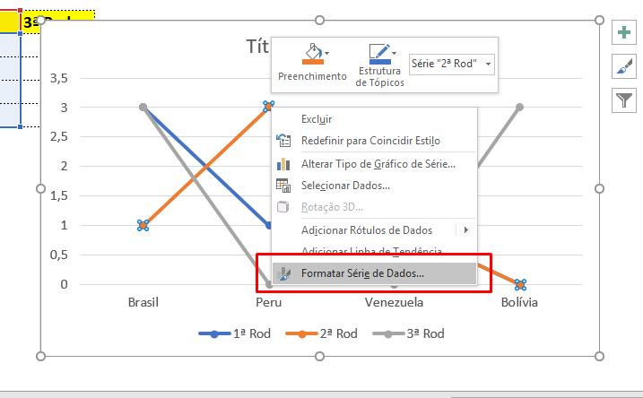 Formatar série de dados para Criar gráfico com ícones no Excel