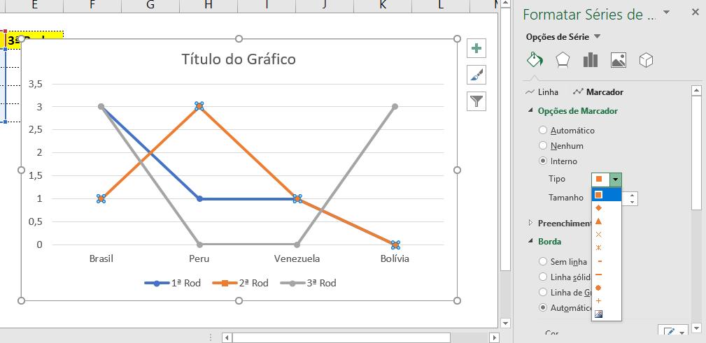 Interno para Criar gráfico com ícones no Excel