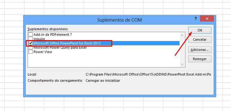 Microsoft Power Pivot no Excel