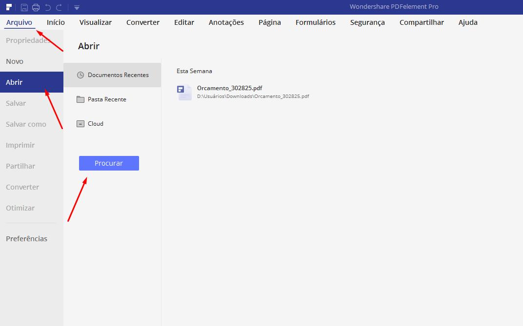 Procurando Converter de PDF para Excel