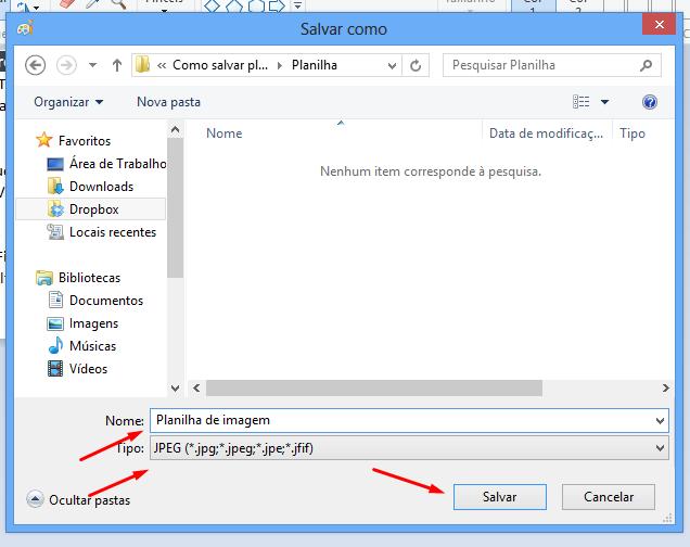 Dando nome a planilha para salvar planilhas de Excel como imagem